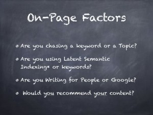 seo tips for on-page Google seo ranking criteria